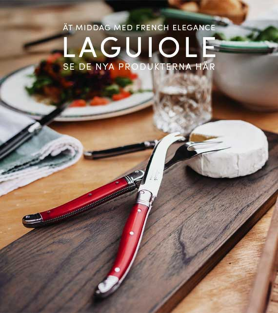 Laguiole er kendetegnet ved ægte fransk kvalitet