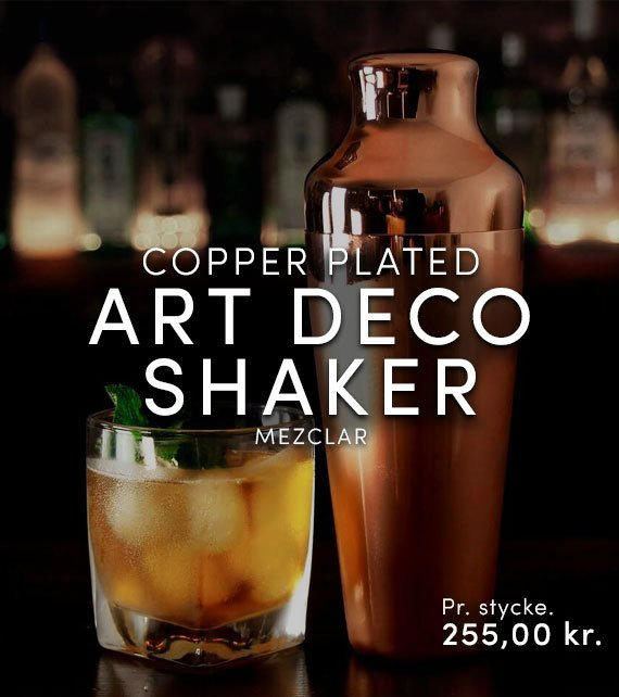 ART DECO SHAKER COPPER PLATED - MEZCLAR